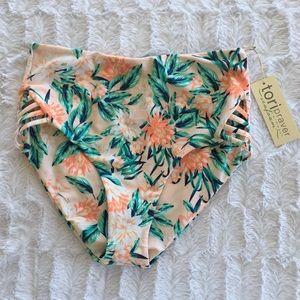 Tori Praver Floral High Waist Bikini Bottom